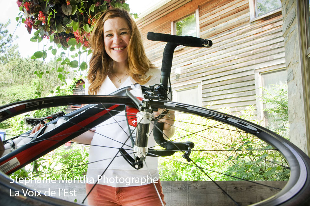Photographie de Clara Hughues, athlete, velo